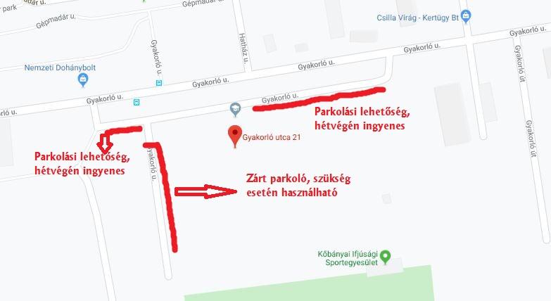 Gyakorló utca 21-23 P