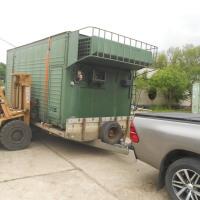 Honvédségi katonai alumínium borítású szigetelt hűtő konténer